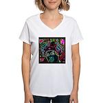 Neon Drag Diva Women's V-Neck T-Shirt