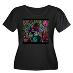 Neon Drag Diva Women's Plus Size Scoop Neck Dark T