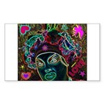 Neon Drag Diva Sticker (Rectangle 10 pk)