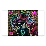 Neon Drag Diva Sticker (Rectangle 50 pk)