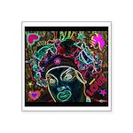Neon Drag Diva Square Sticker 3