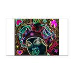 Neon Drag Diva Rectangle Car Magnet