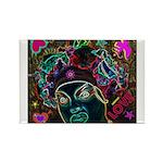 Neon Drag Diva Rectangle Magnet (10 pack)
