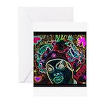 Neon Drag Diva Greeting Cards (Pk of 10)