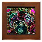 Neon Drag Diva Framed Tile