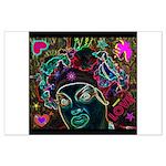 Neon Drag Diva Large Poster