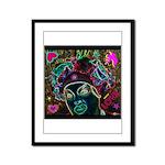 Neon Drag Diva Framed Panel Print