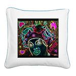 Neon Drag Diva Square Canvas Pillow