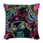 Neon Drag Diva Woven Throw Pillow