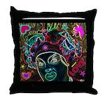 Neon Drag Diva Throw Pillow