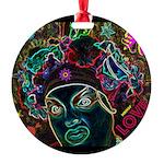 Neon Drag Diva Round Ornament