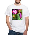 Native Hawaii's Tropical Flora White T-Shirt