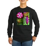 Native Hawaii's Tropical Flora Long Sleeve Dark T-