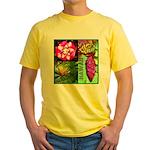 Native Hawaii's Tropical Flora Yellow T-Shirt