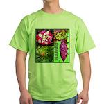 Native Hawaii's Tropical Flora Green T-Shirt