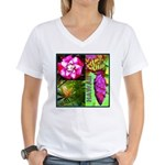 Native Hawaii's Tropical Flora Women's V-Neck T-Sh