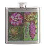 Native Hawaii's Tropical Flora Flask