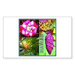 Native Hawaii's Tropical Flora Sticker (Rectangle