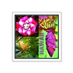 Native Hawaii's Tropical Flora Square Sticker 3