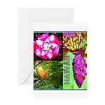 Native Hawaii's Tropical Flora Greeting Card