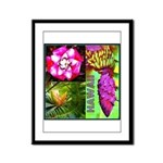 Native Hawaii's Tropical Flora Framed Panel Print