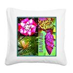 Native Hawaii's Tropical Flora Square Canvas Pillo