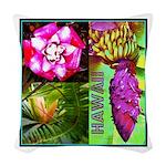 Native Hawaii's Tropical Flora Woven Throw Pillow