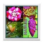Native Hawaii's Tropical Flora Tile Coaster