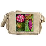 Native Hawaii's Tropical Flora Messenger Bag