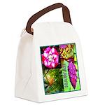Native Hawaii's Tropical Flora Canvas Lunch Bag