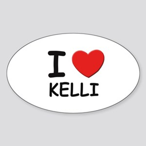 I love Kelli Oval Sticker