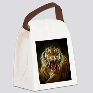 Electric Tiger Canvas Lunch Bag