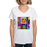 HRHSF Robotic ChestPlate Women's V-Neck T-Shirt