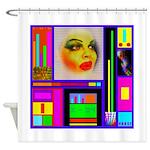 HRHSF Robotic ChestPlate Shower Curtain
