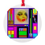 HRHSF Robotic ChestPlate Round Ornament