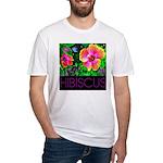 Hawaiian Hibiscus Cupid Shirt Fitted T-Shirt