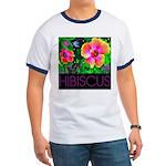 Hawaiian Hibiscus Cupid Shirt Ringer T