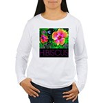 Hawaiian Hibiscus Cupid Shirt Women's Long Sleeve