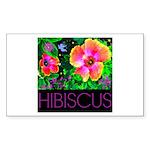 Hawaiian Hibiscus Cupid Shirt Sticker (Rectangle 5