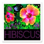 Hawaiian Hibiscus Cupid Shirt Square Car Magnet 3