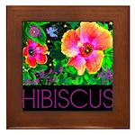 Hawaiian Hibiscus Cupid Shirt Framed Tile