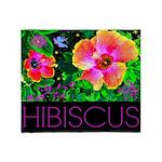Hawaiian Hibiscus Cupid Shirt Throw Blanket