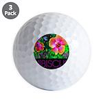 Hawaiian Hibiscus Cupid Shirt Golf Balls