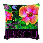 Hawaiian Hibiscus Cupid Shirt Woven Throw Pillow