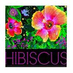 Hawaiian Hibiscus Cupid Shirt Tile Coaster