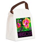 Hawaiian Hibiscus Cupid Shirt Canvas Lunch Bag