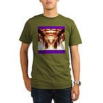 Hawaiian Shade Palm Organic Men's T-Shirt (dark)