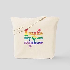 I make my own rainbow Tote Bag
