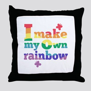 I make my own rainbow Throw Pillow