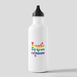 I make my own rainbow Water Bottle